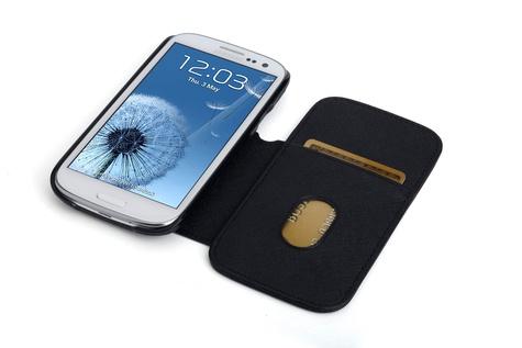 EXERTIS - DUO étui portefeuille pour Samsung Galaxy S3 - noir