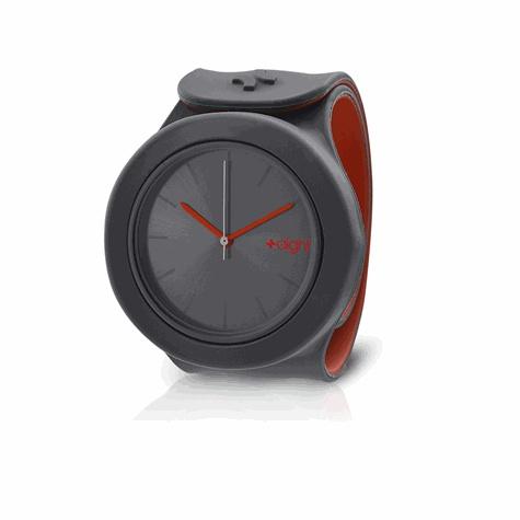 EXERTIS - Montre Aight - modèle Drive (gris - rouge)