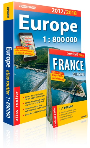 Atlas routier Europe. 1/800 000 édition 2014-2015 - Express Map
