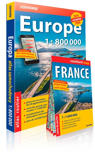 Carte Routiere Europe 2019.Atlas Routier Europe 1 800 000 Avec Une Carte De France 1 1 600 000 Offerte Grand Format