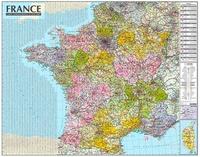 Express Map - Carte murale de France administrative et routière, laminée sans barres alu - 1/1050 000.