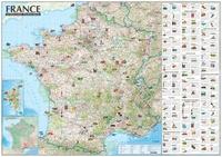 France - Attractions touristiques- Carte laminée avec barres -  Express Map pdf epub