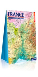 Express Map - France, carte physique et administrative - 1/1 500 000.