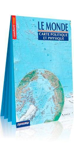 Le monde carte politique et physique. 1/31 000 000