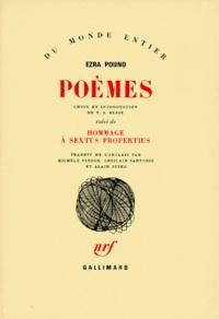 Ezra Pound - Poèmes. [suivi de  Hommage à Sextus Propertius.