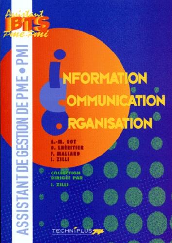 F Mallard et Odile Lhéritier - Information Communication Organisation BTS Assistant de gestion de PME-PMI.