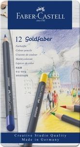 FABER CASTELL - GOLDFABER CRAYON DE COULEUR BOÎTE MÉTAL X12