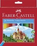 FABER CASTELL - Pochette 24 crayons de couleurs Château