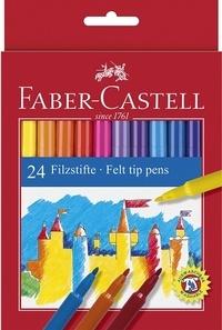 FABER CASTELL - Pochette 24 feutres de coloriage Château