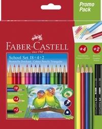 """FABER CASTELL - Pochette de crayons de couleur triangulaires Faber-Castell """"18+4+2graphite"""""""