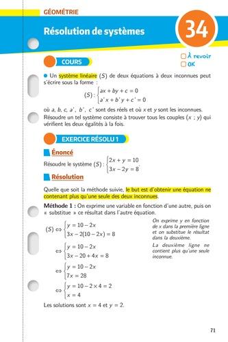 Spécialité maths 1re. Les fiches