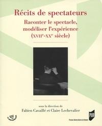 Deedr.fr Récits de spectateurs - Raconter le spectacle, modéliser l'expérience (XVIIe-XXe siècle) Image