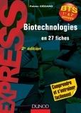 Fabien Cézard - Biotechnologies en 27 fiches - 2e édition - Rappels de cours et exercices corrigés.