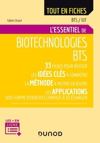 Téléchargez des livres électroniques pour kindle gratuitement L'essentiel de biotechnologies BTS par Fabien Cézard