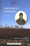 Fabien Knittel - Agronomie et innovation - Le cas Mathieu de Dombasle (1777-1843).