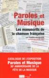 Fabien Lecoeuvre - Paroles et Musique - Les manuscrits de la chanson française.