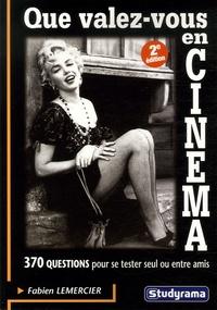 Fabien Lemercier - Que valez-vous en cinéma ?.
