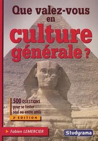 Fabien Lemercier - Que valez-vous en culture générale ?.