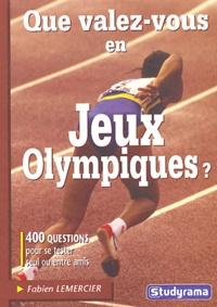 Histoiresdenlire.be Que valez-vous en Jeux Olympiques ? Image