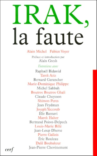 Fabien Michel et Fabien Voyer - Irak, la faute.