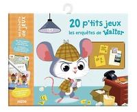 Fabienne Blanchut et Coralie Vallageas - 20 p'tits jeux les enquêtes de Walter - Avec 1 feutre effaçable et 20 cartes plastifiées.