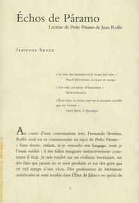 Fabienne Bradu - Echos de Paramo - Lecture de Pedro Paramo de Juan Rulfo.