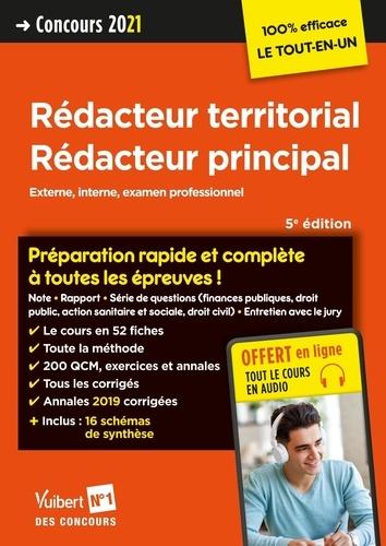 Concours rédacteur territorial, rédacteur principal catégorie B. Externe, interne et examen professionel  Edition 2021