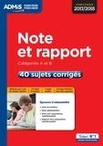 Fabienne Geninasca - Note et rapport - Concours catégories A et B - 40 sujets corrigés.