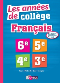 Fabienne Pegoraro et Sophie Pailloux-Riggi - Les années de collège Français 6e-5e-4e-3e.