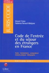 Histoiresdenlire.be Code de l'entrée et du séjour des étrangers en France. Edition 2001 Image