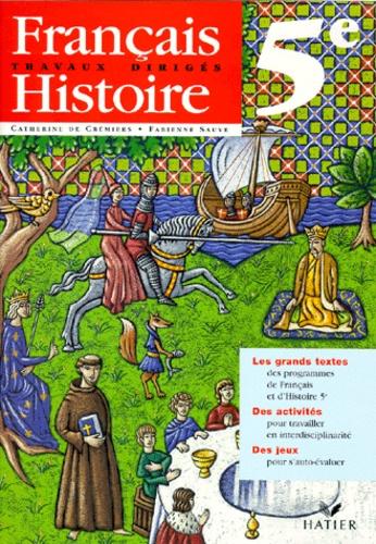 Francais Histoire 5eme Travaux Diriges