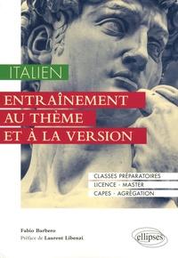 Fabio Barbero - Italien - Entraînement au thème et à la version.