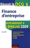 Fabrice Briot - Finance d'entreprise DCG 6 - Entraînement à l'épreuve 2009.