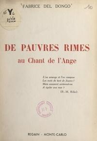 Fabrice del Dongo - De pauvres rimes au Chant de l'ange.