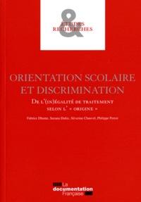 """Fabrice Dhume et Suzana Dukic - Orientation scolaire et discrimination - De l'(in)égalité de traitement selon l'""""origine""""."""