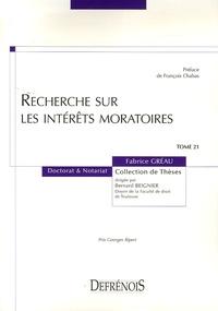 Fabrice Gréau - Recherches sur les intérêts moratoires.