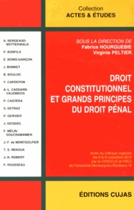 Fabrice Hourquebie et Virginie Peltier - Droit constitutionnel et grands principes du droit pénal.