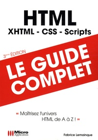 Fabrice Lemainque - HTML - Maîtriser l'univers HTML de A à Z.