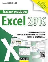 Fabrice Lemainque - Travaux pratiques avec Excel 2016 - Saisie et mise en forme, formules et exploitation des données, courbes et graphiques....