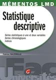 Fabrice Mazerolle - Statistique descriptive - Série statistique à une et deux variables, Séries chronologiques, Indices.