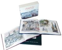 Fabrice Moireau et Carl Norac - Paris - Coffret 3 livres : Toits de Paris ; Jardins de Paris ; Paris.