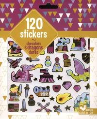 Fabrice Mosca - 120 stickers chevaliers et dragons dorés.