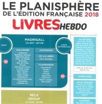 Fabrice Piault - Le planisphère Livre Hebdo de l'édition française.