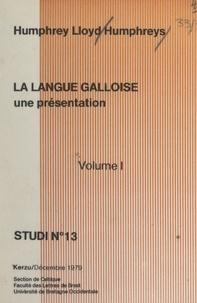 Faculté des lettres de Brest et  Université de Bretagne occiden - La langue galloise (1) - Une présentation.
