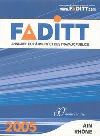 FADITT - Annuaire du Bâtiment et des Travaux Publics - Ain-Rhône.