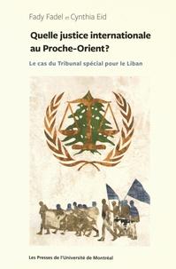 Deedr.fr Quelle justice internationale au Proche-Orient ? - Le cas du Tribunal spécial pour le Liban Image