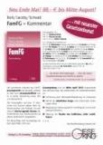 FamFG - Kommentar zum Gesetz über das Verfahren in Familiensachen und in den Angelegenheiten der freiwilligen Gerichtsbarkeit.