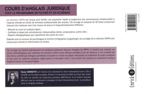 Cours d'anglais juridique. Tout le programme en fiches et en schémas  Edition 2021