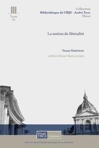Fanny Hartman - La notion de libéralité.
