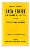 Fanny Hurst - Back Street (en marge de la vie).